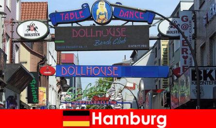 Αμβούργο Ereperbahn - Νυχτερινή ζωή πορνείους και συνοδεία υπηρεσία για τον σεξουαλικό τουρισμό