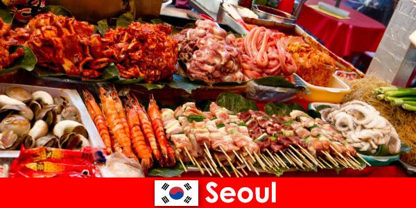Σεούλ επίσης διάσημη μεταξύ των ταξιδιωτών για το νόστιμο και δημιουργικό φαγητό του δρόμου