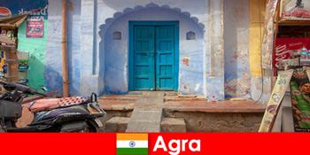 Ταξίδι στο εξωτερικό στην Άγκρα Ινδίας στην αγροτική ζωή του χωριού