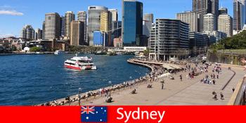 Πανοραμική θέα σε ολόκληρη την πόλη του Σίδνεϊ της Αυστραλίας για επισκέπτες από όλο τον κόσμο