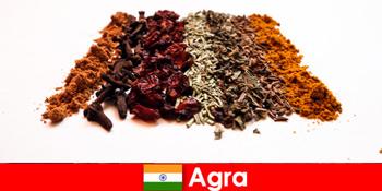 Εκδρομή για τους τουρίστες στην εκλεπτυσμένη κουζίνα των μπαχαρικών στην Άγκρα Ινδία